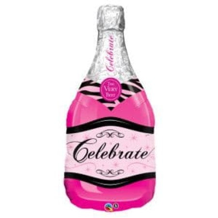 Hot Pink Champagne Bottle Balloon I Helium Balloons Ruislip I My Dream Party Shop