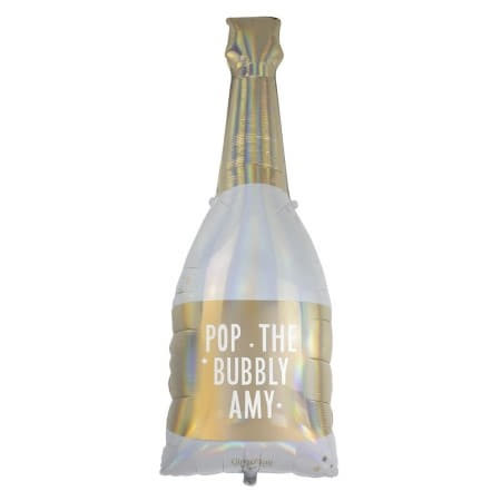 Personalised Champagne Bottle Balloon I Modern Party Balloons I My Dream Party Shop UK