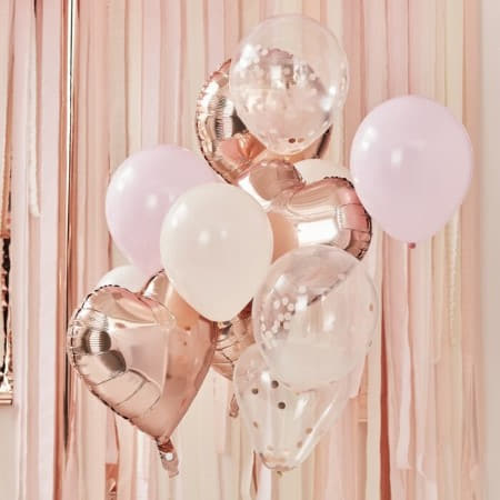 Blush and Rose Gold Balloon Bundle I Modern Balloon Bouquets I My Dream Party Shop UK