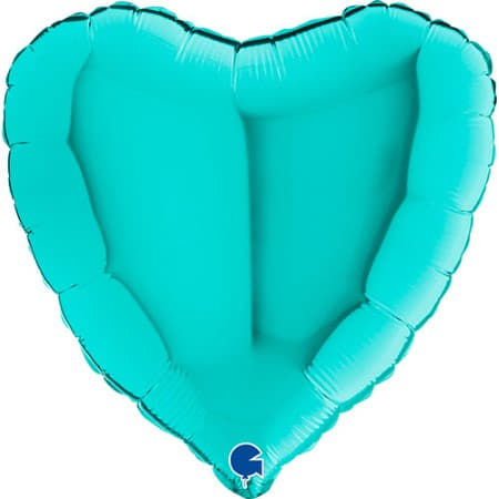 Tiffany Blue Heart Foil Balloon I Modern Foil Balloons I My Dream Party Shop UK