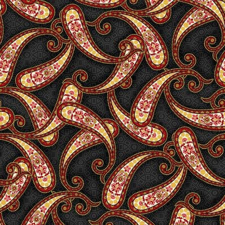 Black Paisley - Brown Medallion