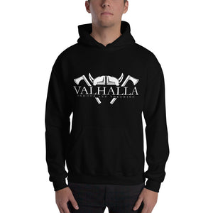 Valhalla logo on front and NATF logo on back Hooded Sweatshirt- sizes up to 5xl
