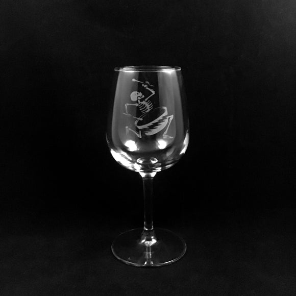 Hand Etched Wine Glass Style 1. RAMU