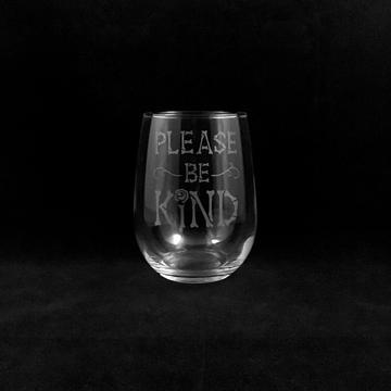 Hand Etched Tumbler Style 5. Be Kind