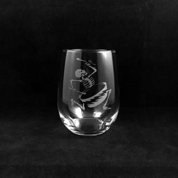 Hand Etched Tumbler Style 1. RAMU