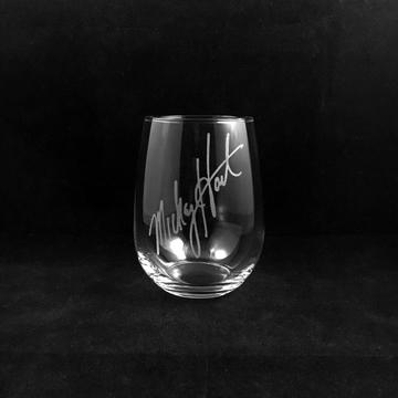 Hand Etched Tumbler Style 2. Autograph