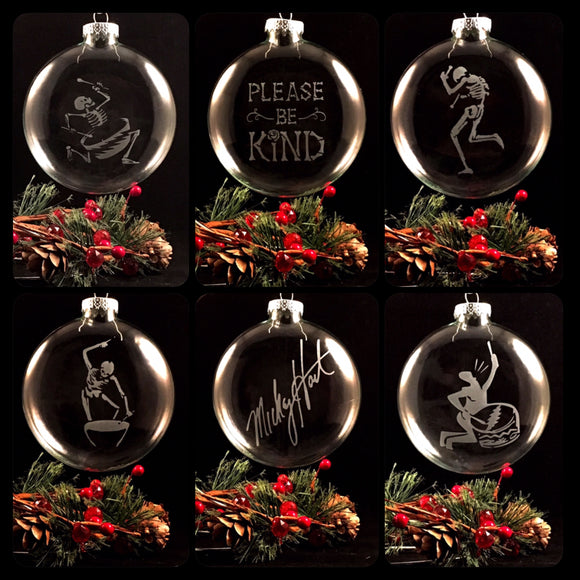 Hand Etched Ornaments - Set Of Six