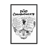 Dead Commandments Framed Poster