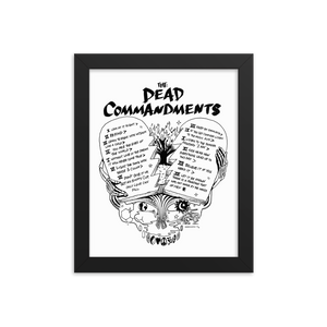 The Dead Commandments Framed Poster