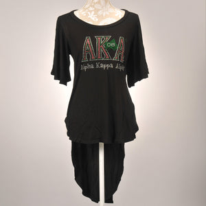 AKA 08 High Low Dolman Sleeve Top