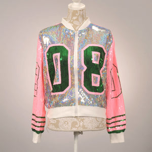 AKA 08 Silver/Pink Sequin Jacket