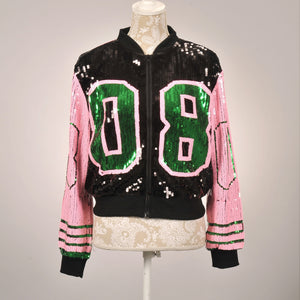 AKA Black/Pink 08 Black Sequin Jacket