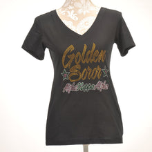Load image into Gallery viewer, AKA Golden Soror V-Neck Shirt