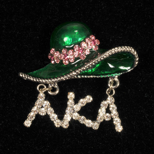 AKA Pink and Green Hat Pin