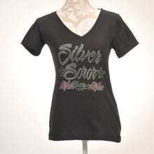 Load image into Gallery viewer, AKA Silver Soror V-Neck Shirt