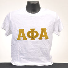 Load image into Gallery viewer, Alpha Phi Alpha Men's Applique Cotton Tee - Various Colors