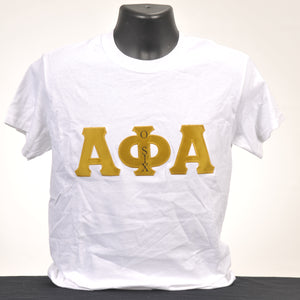 Alpha Phi Alpha Men's Applique Cotton Tee - Various Colors