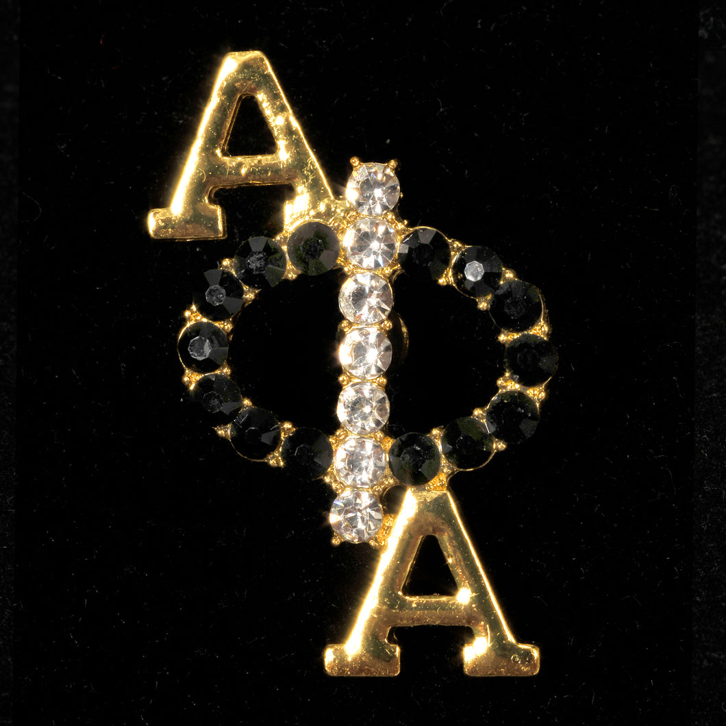 Alpha Phi Alpha Black Crystal Pin