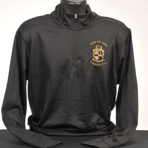 Alpha Phi Alpha Men's Dry Fit Fleece Quarter Zip Pullover