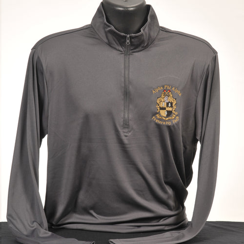 Alpha Phi Alpha Solid Dry Fit Quarter Zip Pullover