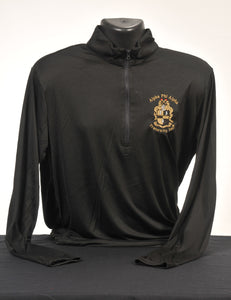 Alpha Phi Alpha Solid Color Men's Dry Fit Quarter Zip Pullover