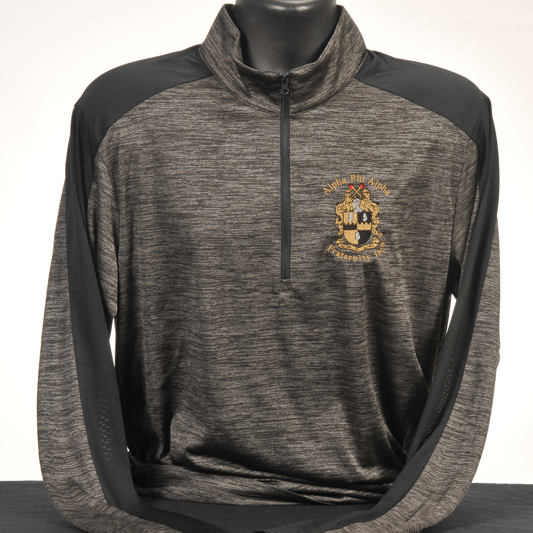 Alpha Phi Alpha Two Tone Color Men's Dry Fit Quarter Zip Pullover