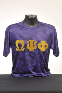 Omega Psi Phi Purple Dry Fit Camo Shirt