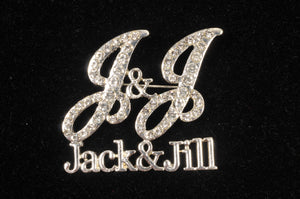 Jack and Jill Rhinestone Pin