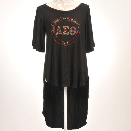 Delta Sigma Theta High Low Dolman Sleeve Top