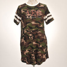 Load image into Gallery viewer, Delta Sigma Theta Sorority Incorporated Ladies Camo Dress