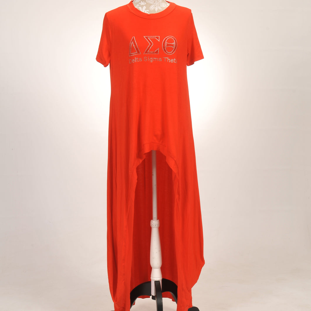 Delta Sigma Theta Long High-Low Top
