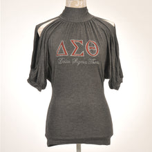 Load image into Gallery viewer, Delta Sigma Theta Cold Shoulder Top