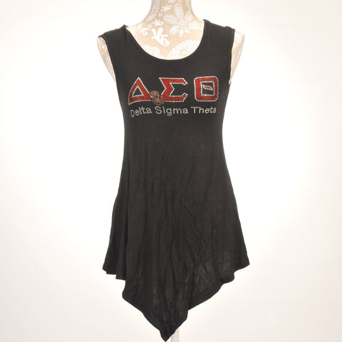 Delta Sigma Theta Sorority Incorporated Sleeveless Asymetrical Top