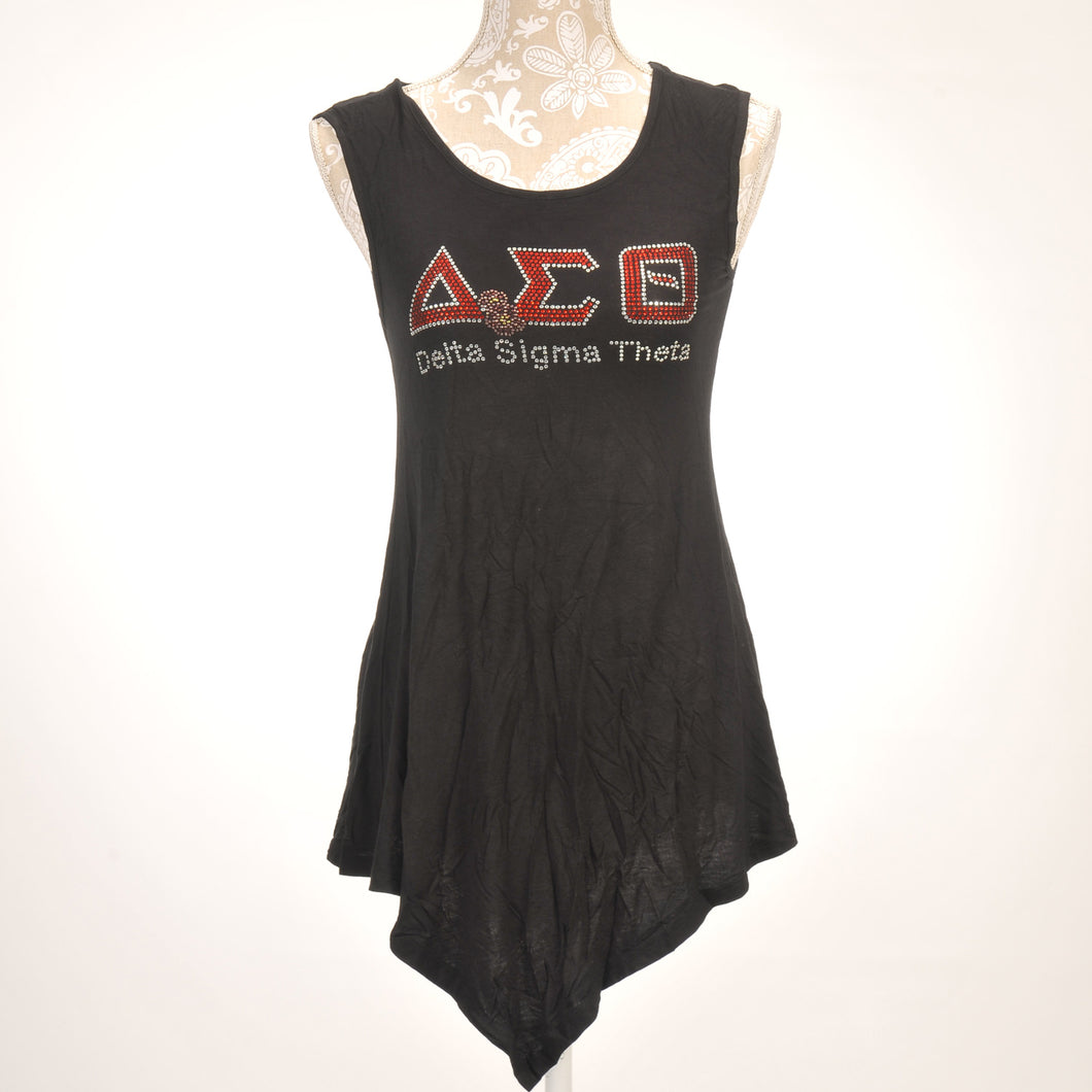 Delta Sigma Theta Sleeveless Asymetrical Top