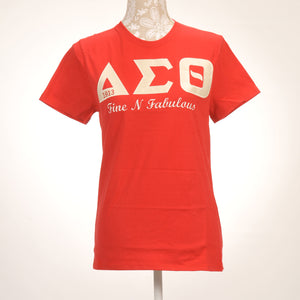 Delta Sigma Theta Sorority Incorporated Ladie's Applique Cotton Shirt
