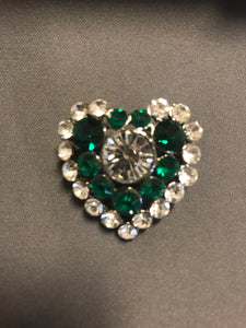 Heart Rhinestone Pin