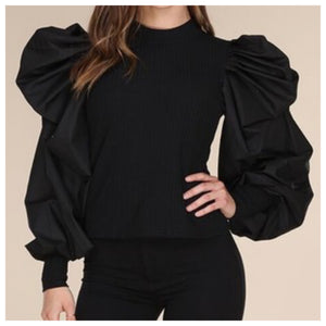 Sally Long Dramatic Sleeve Top