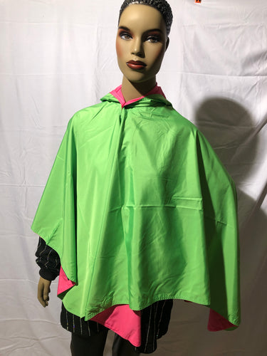 Pink & Green Water Resistant Cape