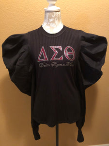 Delta Sigma Theta Long Puff Sleeve Top