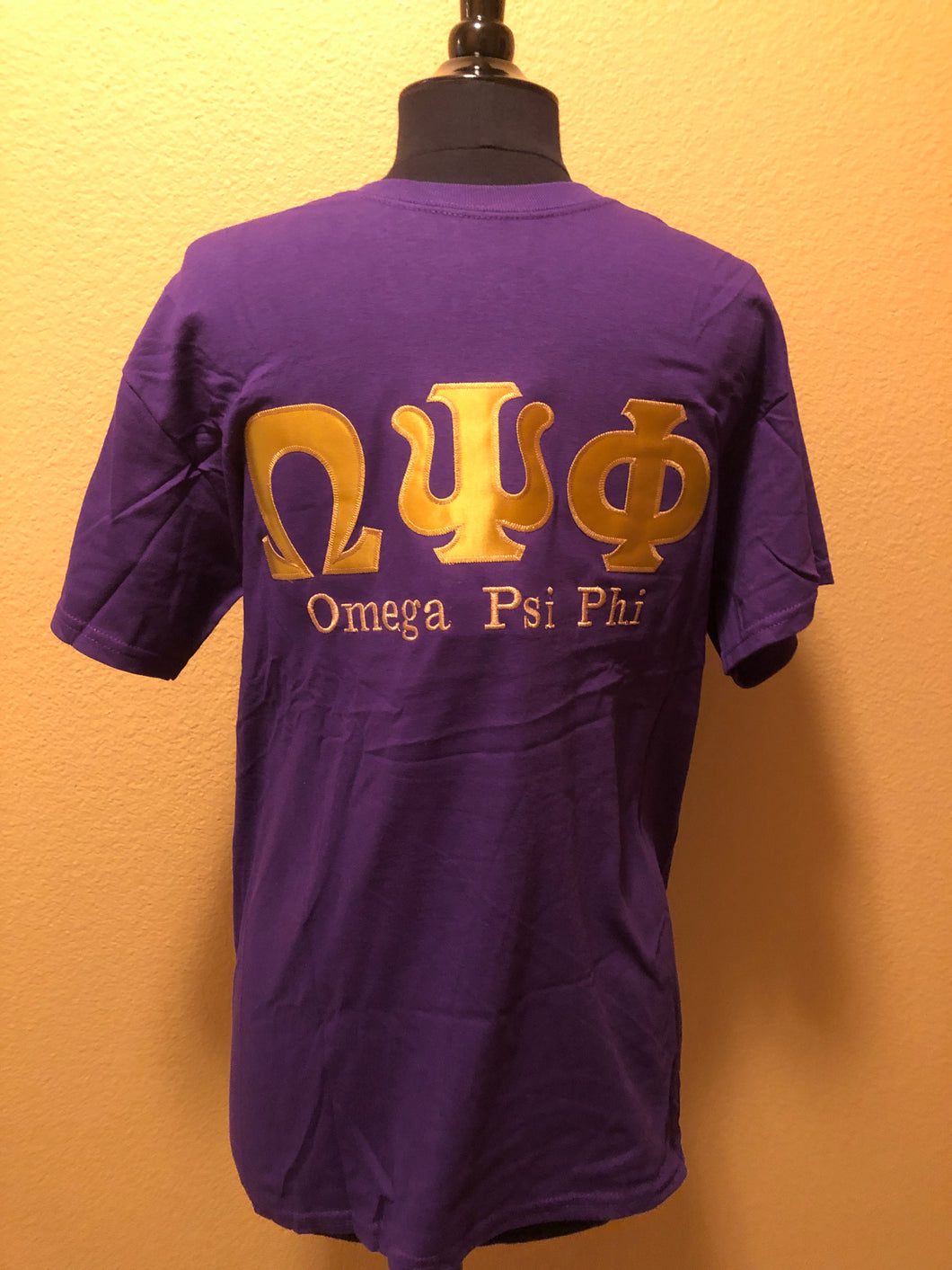 Omega Psi Phi Greek Applique Cotton Tee