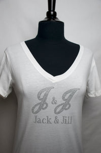 Jack and Jill Clear White V-Neck T-Shirt
