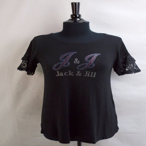 Jack and Jill Lace Bell Sleeve Tunic Top