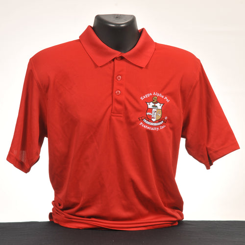 Kappa Alpha Psi Men's Red Micro Dry Fit Polo