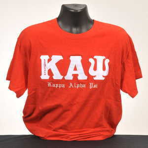 Kappa Alpha Psi 1911 Men's Red Cotton Tee