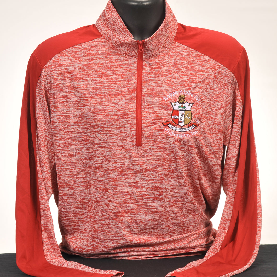 Kappa Alpha Psi Red Dry Fit Quarter Zip Pullover
