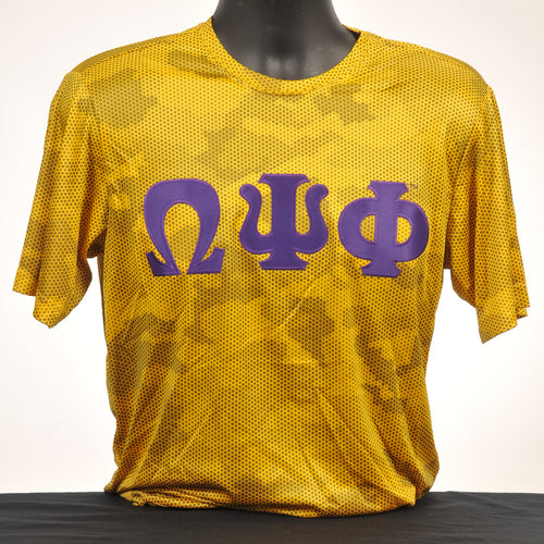 Omega Psi Phi Gold Dry Fit Camo Shirt