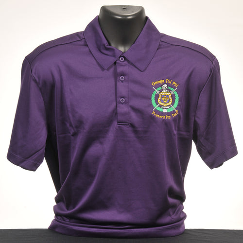 Omega Psi Phi Purple Dry Fit Polo