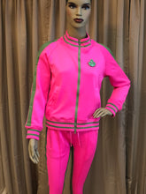 Load image into Gallery viewer, Pink & Green Sweatsuit