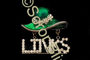 LINKS Hat Rhinestone Pin