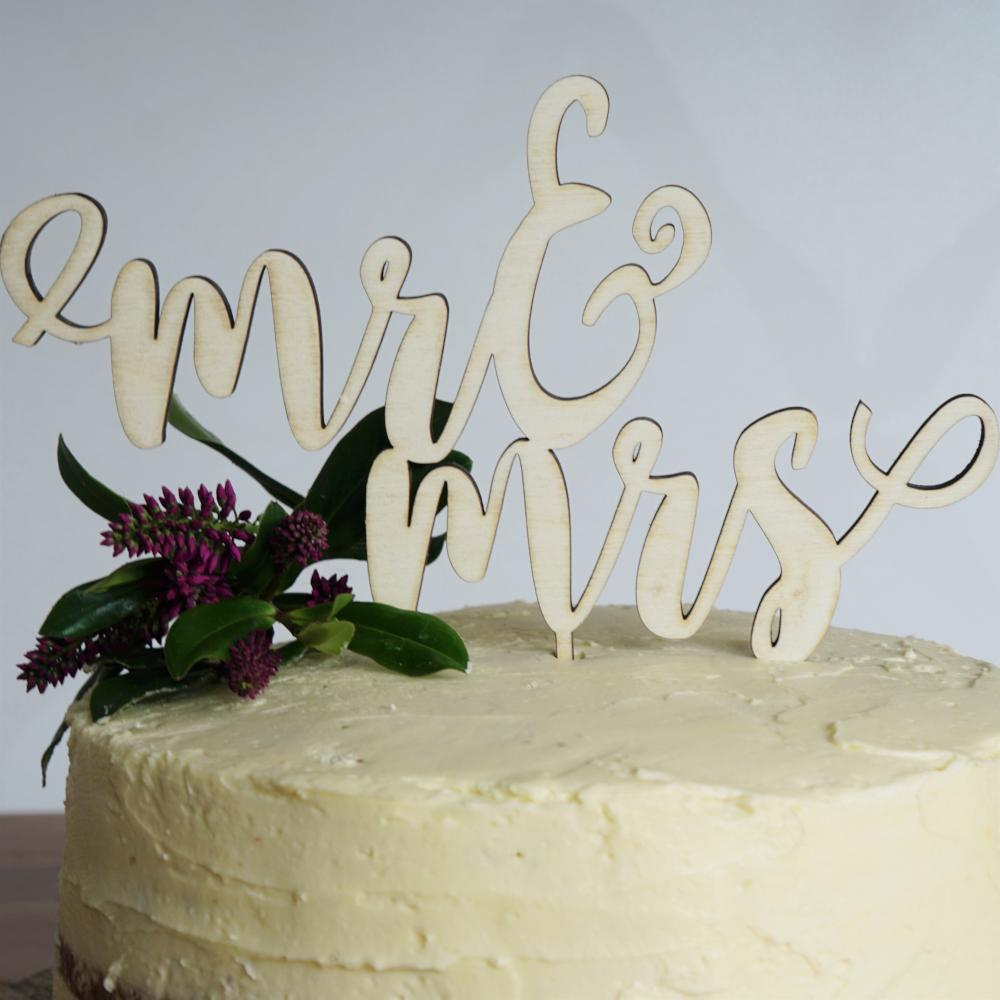 Wedding laser cut cake topper